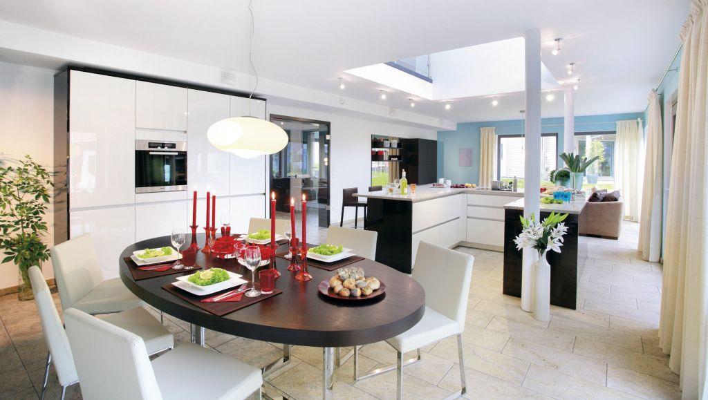 Bucatarie deschisa intre sufragerie si living solutie for Haush dizain