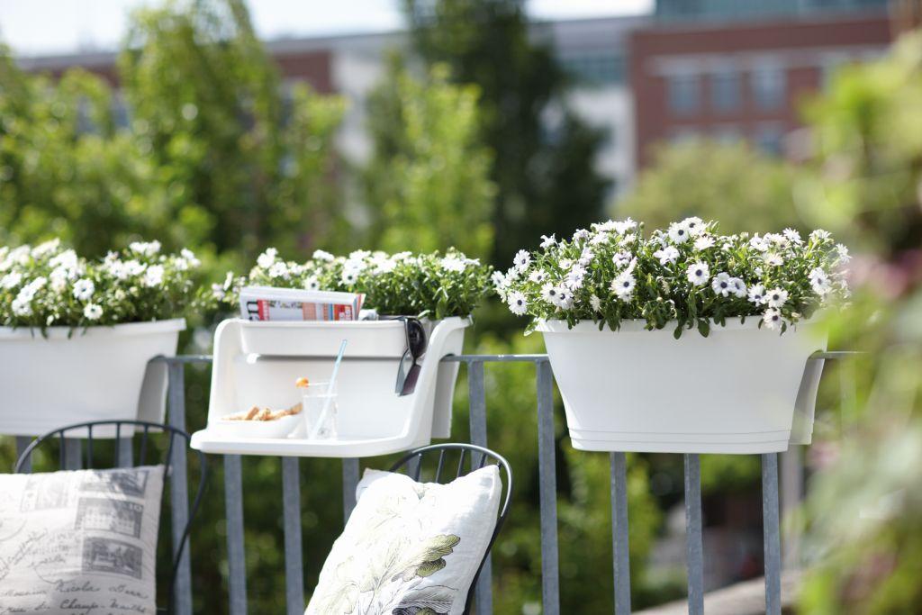 Jardiniera Corsica cu masuta de 60 cm pentru balcon