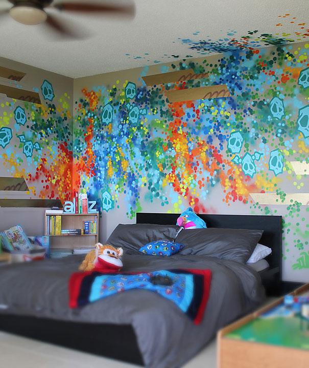 adelaparvu.com despre decor interior cu graffiti design Dudeman