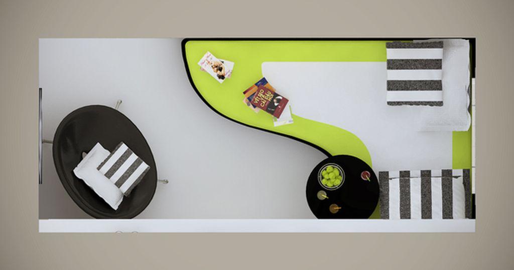 Proiect pentru balcon conceput de designerul Olga Cherednikova