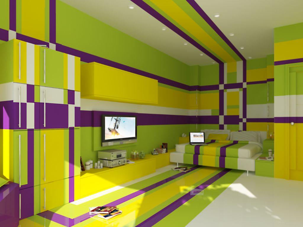 Psychedelic bedroom proiect creat de designerul Olga Cherednikova