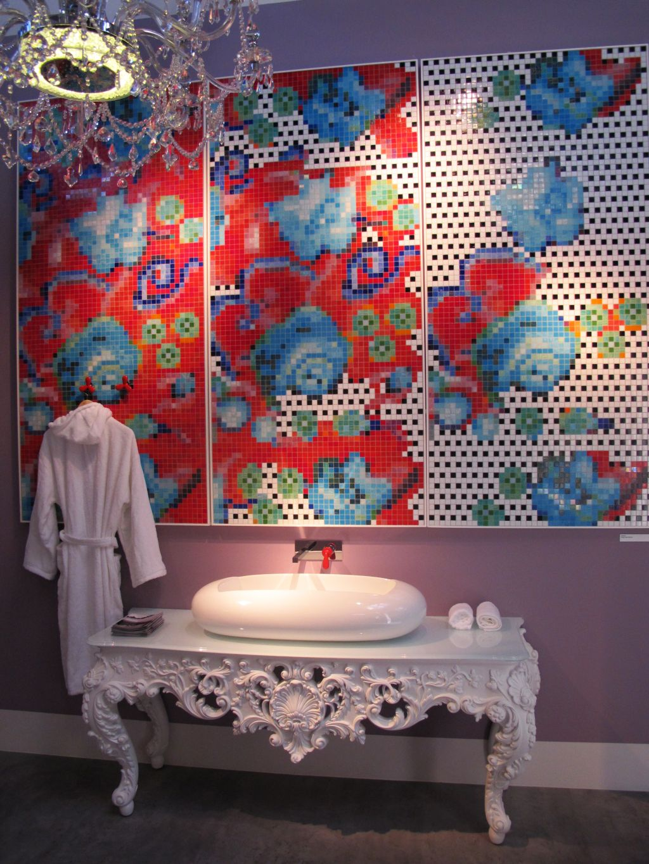 Mozaic artistic semnat de Paola Navone pentur Bisazza