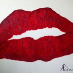 Injecting beauty painting on canvas artist Adela Parvu 2012