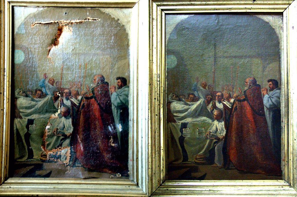 Restaurare realizata de Adrian Dumitru. Faza initiala si finala.