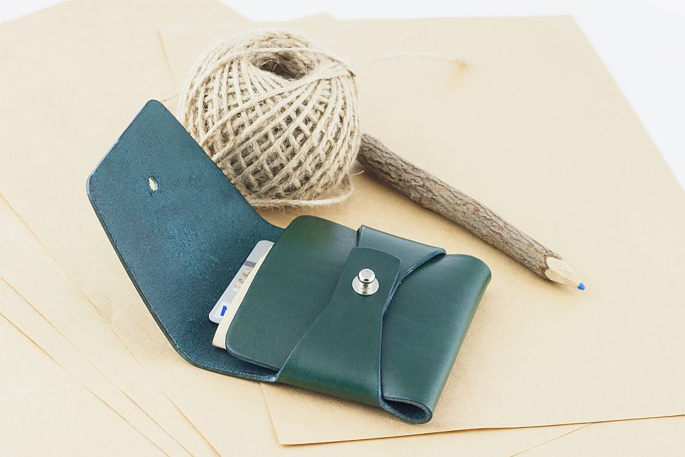 Clean Everything green stitchless wallet