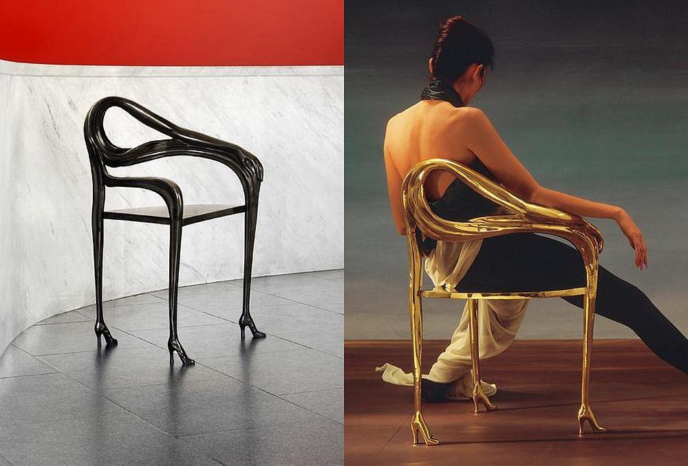 Leda scaun design Salvador Dali produs in 2009