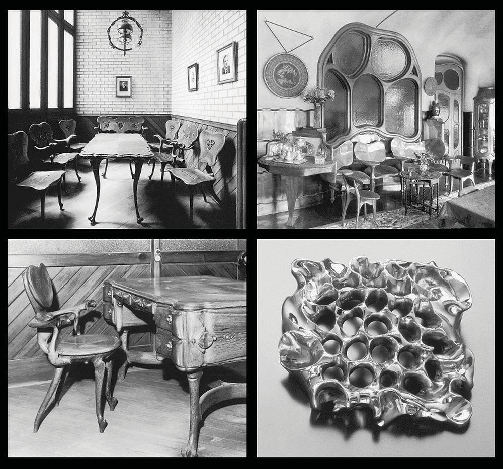 Mobila proiectata de  Antoni Gaudí pentru Casa Calvet