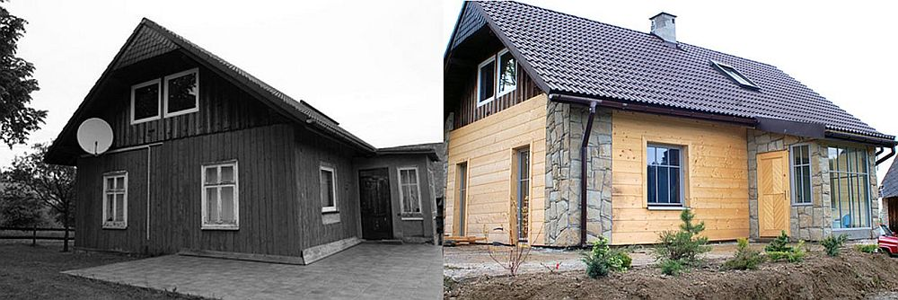Casa inainte si dupa transformare