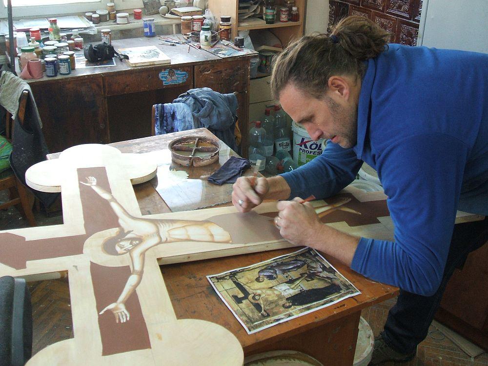 Jakab Tibor in atelier