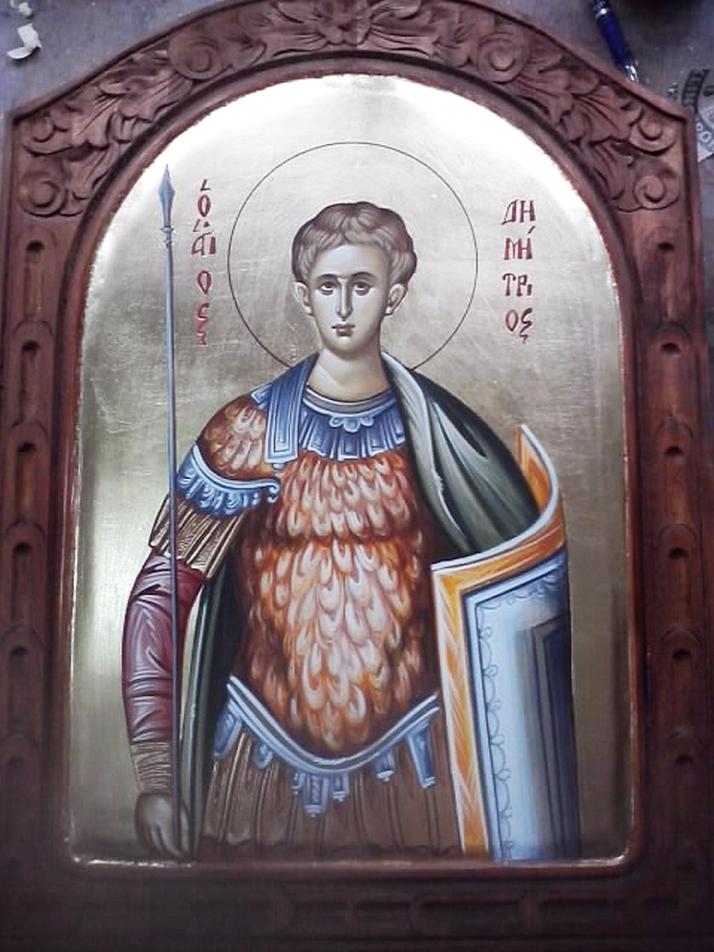 adelaparvu.com despre icoane bizantine pictate de Lorand Kolumban si Jakab Tibor