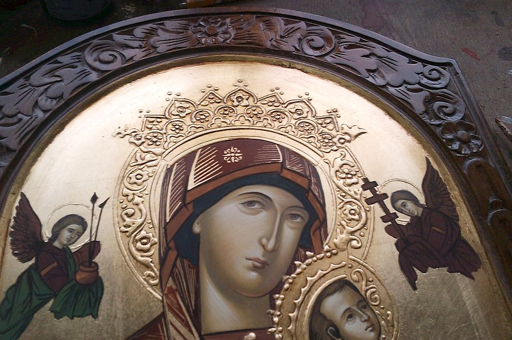 adelaparvu.com despre icoane bizantine pictate de Lorand Kolumban si Jakab Tibor (7)