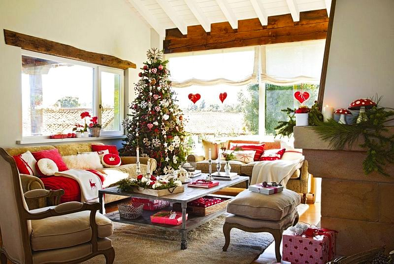 Christmas decoration in Cantabria house, architect Luis Alberto Alonso, Photo ElMueble (8)
