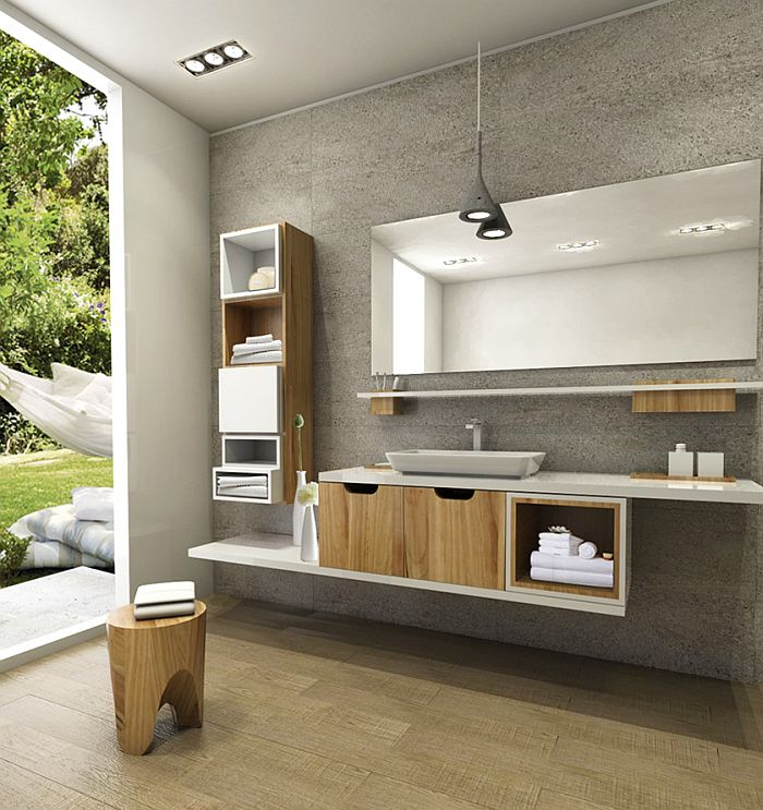 Cutia - mobiler modular de baie creat de arh. Andreea Pinter, de la Delta Studio