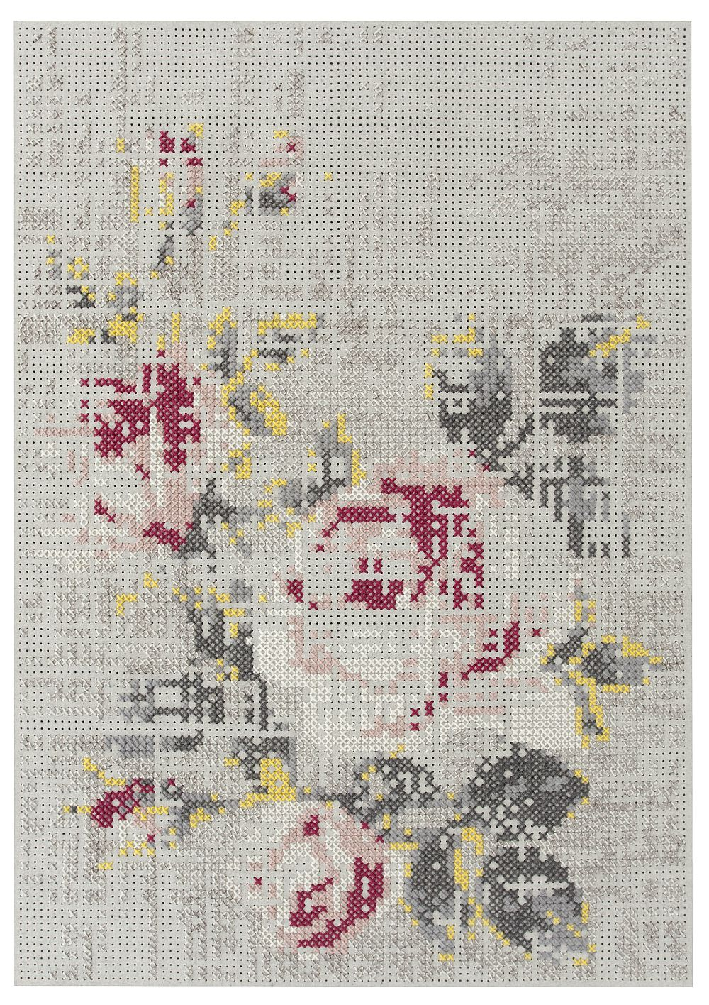 Colectia Canevas Space Designer Charlotte Lancelot Gan Rugs Covor Flowers Natural 170x240 cm