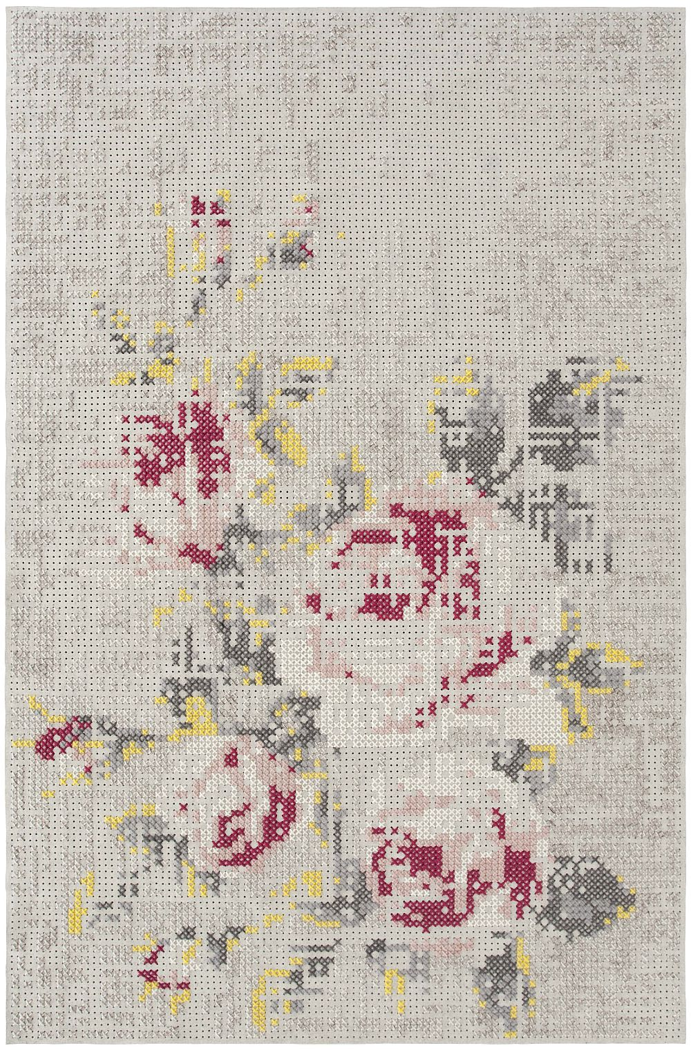 Colectia Canevas Spaces Designer Charlotte Lancelot Gan Rugs Covor Flowers Natural 200x300 cm
