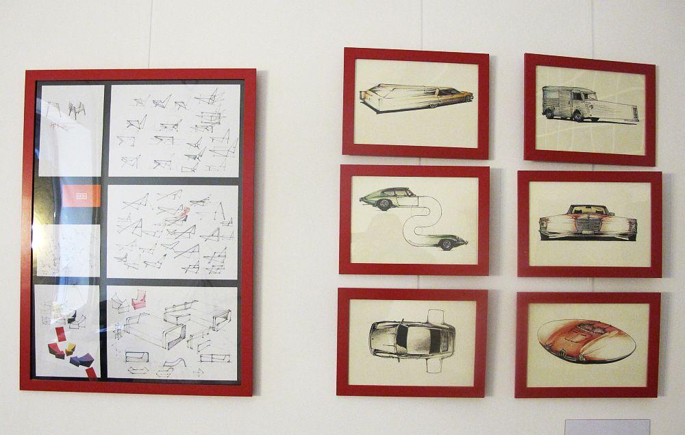 Schite facute de Constantin Alupoaei care-ti arata etapele din munca lui de creatie