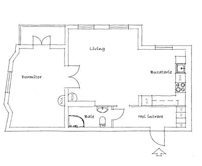adelaparvu.com about one bedroom apartment in Sweden Photo Janne Olander  plan