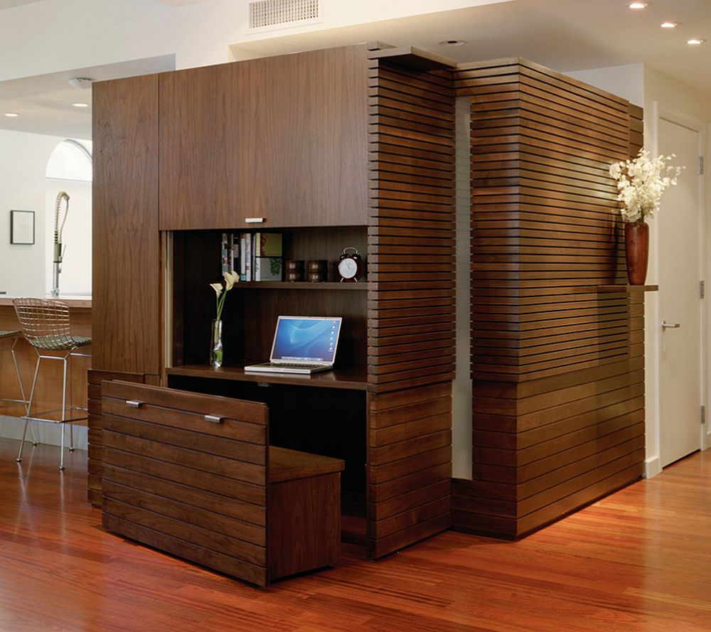 Asta e solutia care-mi place cel mai mult, locul de sedere este o lada de depozitare. Foto Min Day Architects