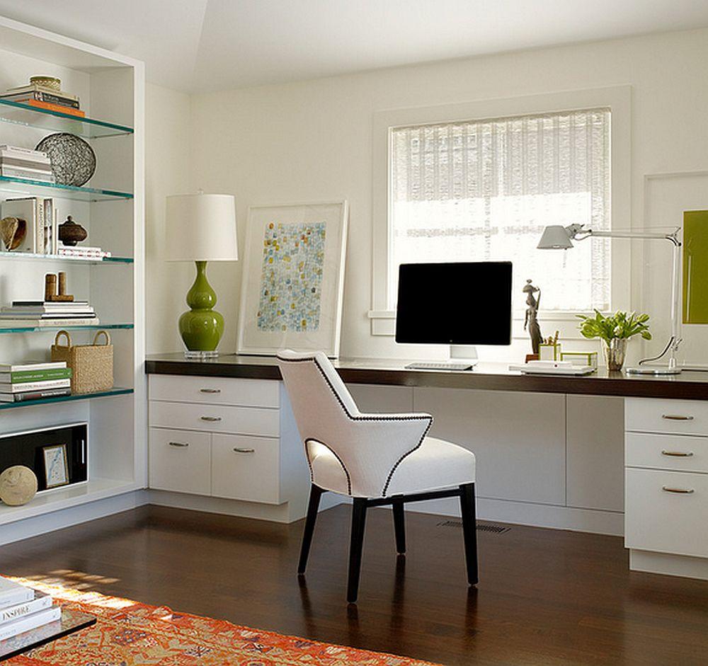 Varianta mai moderna pentru pozitionarea locului de birou in fata ferestrei. Foto Butler Armsden Architects