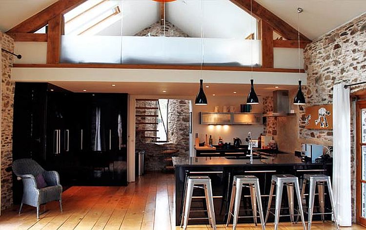 adelaparvu.com about Big Barn Larcombe Farm, modern kitchen in a rustic cottage Photo Andreas von Einsiedel  (1)