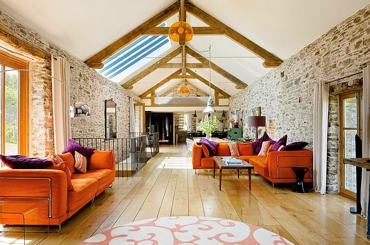 adelaparvu.com about Big Barn Larcombe Farm, modern living in a rustic attic, Photo Andreas von Einsiedel  (7)