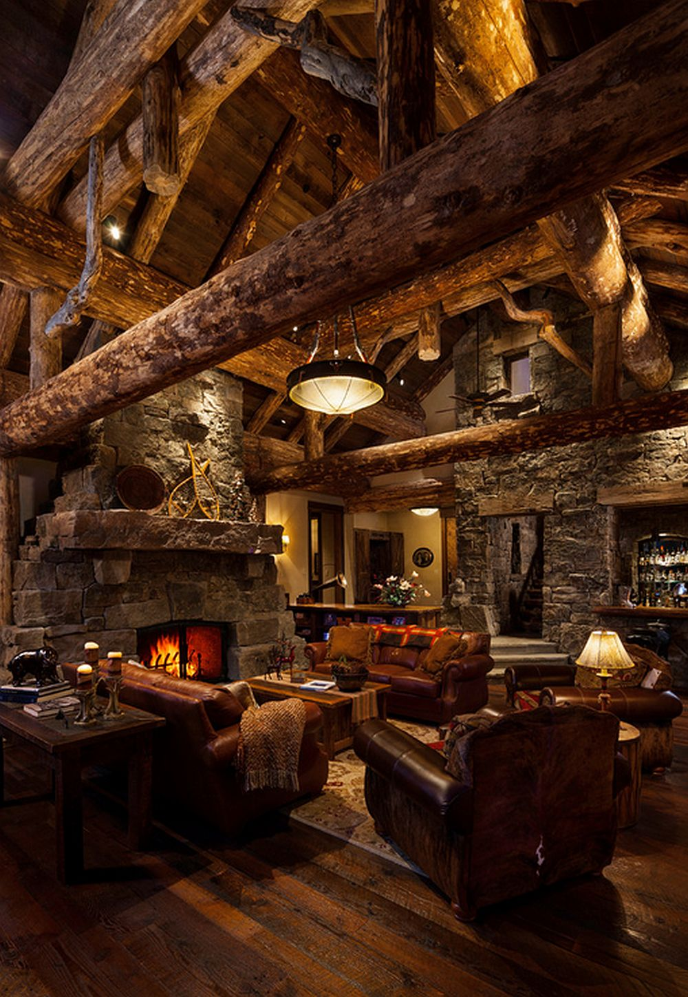 adelaparvu.com about Foxtail residence in Yellowstone Club, Big Sky, Montana, architect Faure Halvorsen Architects, Photo Karl Neumann (14)
