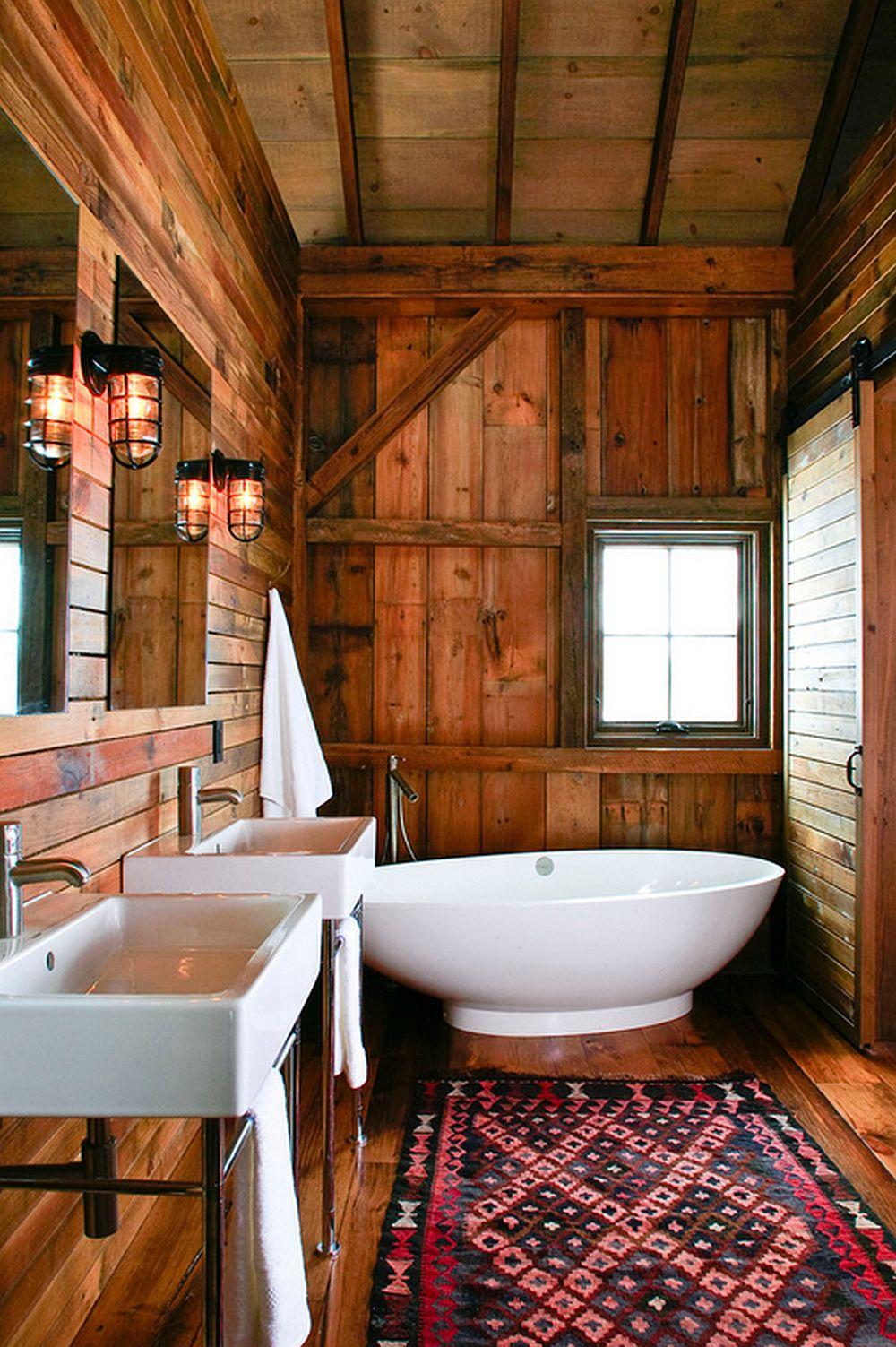 adelaparvu.com despre Michigan Barn, architect Austin DePree, Northworks Architects, baie rustica intr-un hambar modernizat (8)
