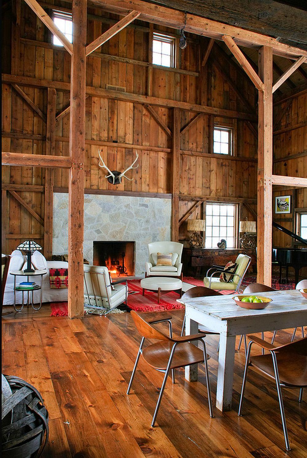 adelaparvu.com despre Michigan Barn, architect Austin DePree, Northworks Architects, living modern intr-un hamabar rustic  (13)