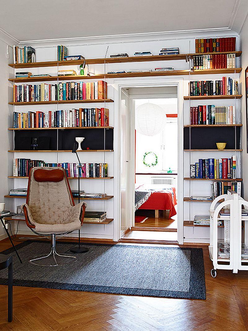 adelaparvu.com despre apartament 3 camere, Foto Janne Olander, Standshem, biblioteca (16)