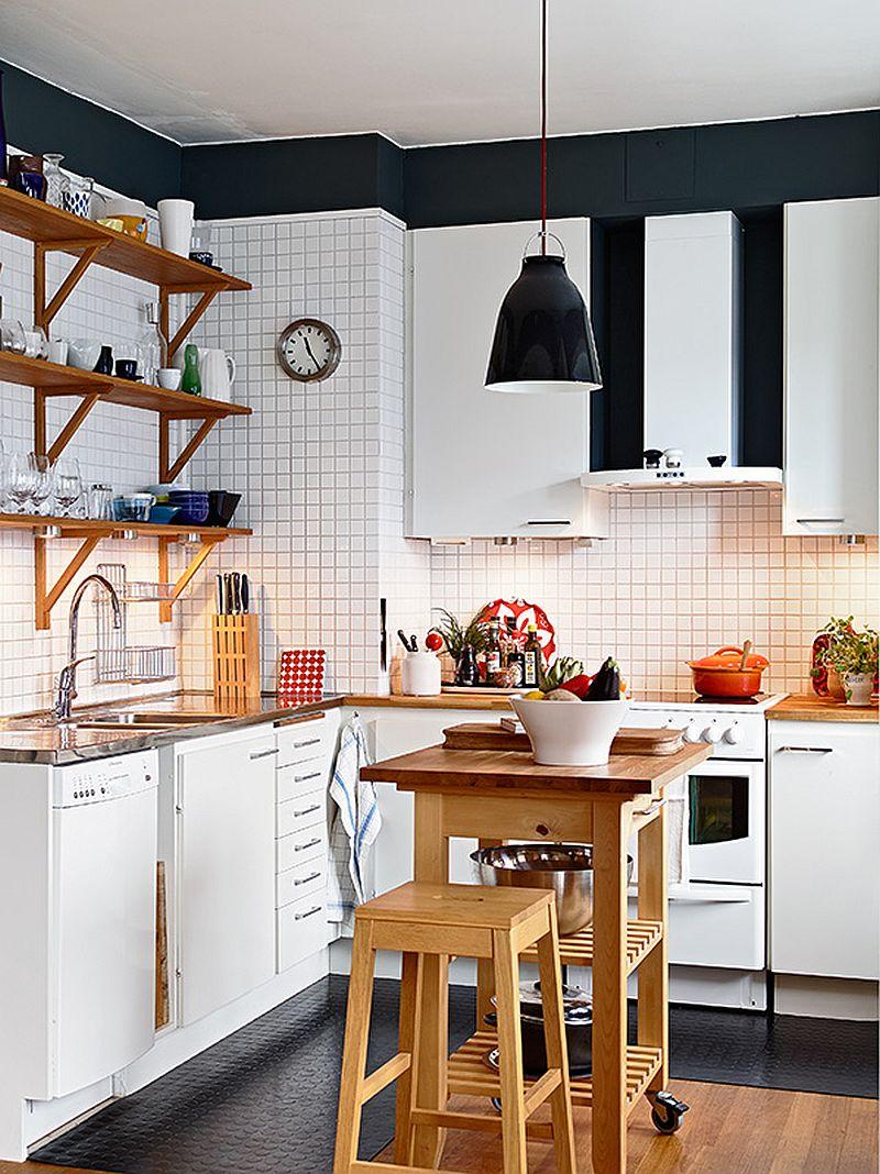 adelaparvu.com despre apartament 3 camere, Foto Janne Olander, Standshem, rafturi bucatarie (4)