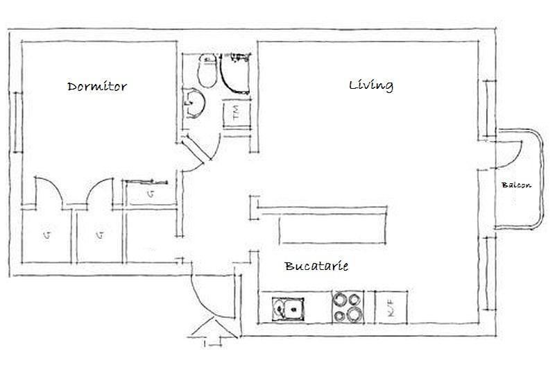 adelaparvu.com despre apartament de doua camere cu bucatarie partial deschisa