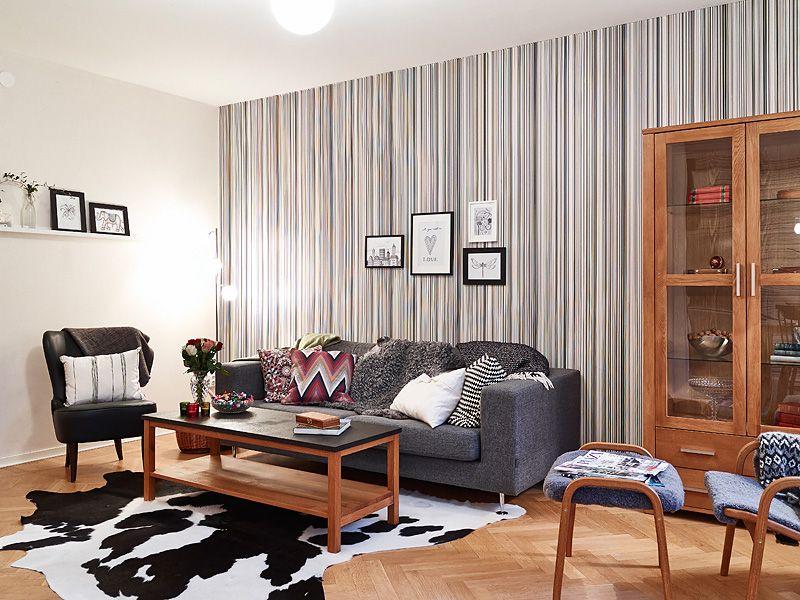 adelaparvu.com despre apartament de doua camere, living bloc cu tapet, Foto Jonas Berg (5)