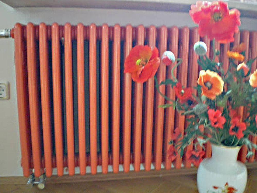 adelaparvu.com despre calorifere vopsite, calorifere colorate, foto Klempnerei Richter