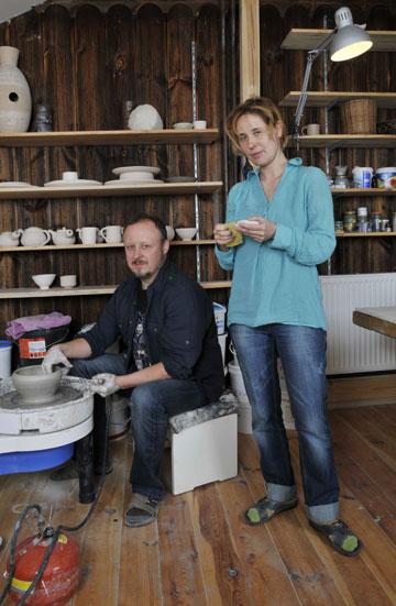 Sotii artisti Marta Kedzierska si Jacek Tratkiewicz