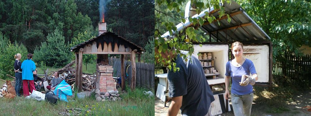 adelaparvu.com despre casa artistilor Marta Kedzierska si Jacek Tratkiewicz Foto Marek Szymanski, cuptor ceramica raku (14)