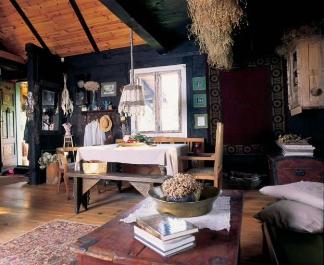 adelaparvu.com despre casa la tara de poveste, sufragerie rustica (3)