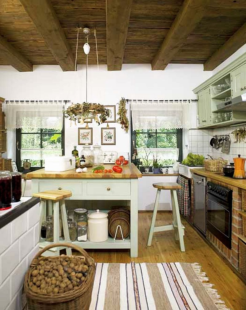 adelaparvu.com despre casa rustica si pensiune la Jemna, Foto Michael Skorupski , Barry Fisher, bucatarie rustica cu mobila din caramida  (11)