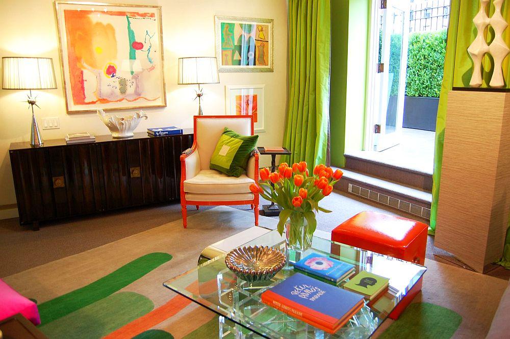 adelaparvu.com despre living in nuante vesele, de primavara, designer Eileen Kathryn Boyd, Kips Bay 2009 (4)