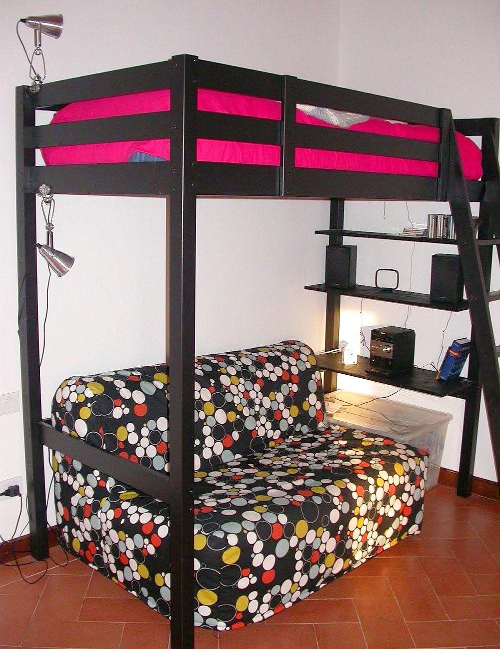adelaparvu.com despre loc pentru pat si canapea in aceeasi camera, paturi supraetajate pentru adulti IKEA (2)