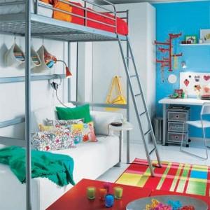 adelaparvu.com despre loc pentru pat si canapea in aceeasi camera, paturi supraetajate pentru adulti IKEA (7)