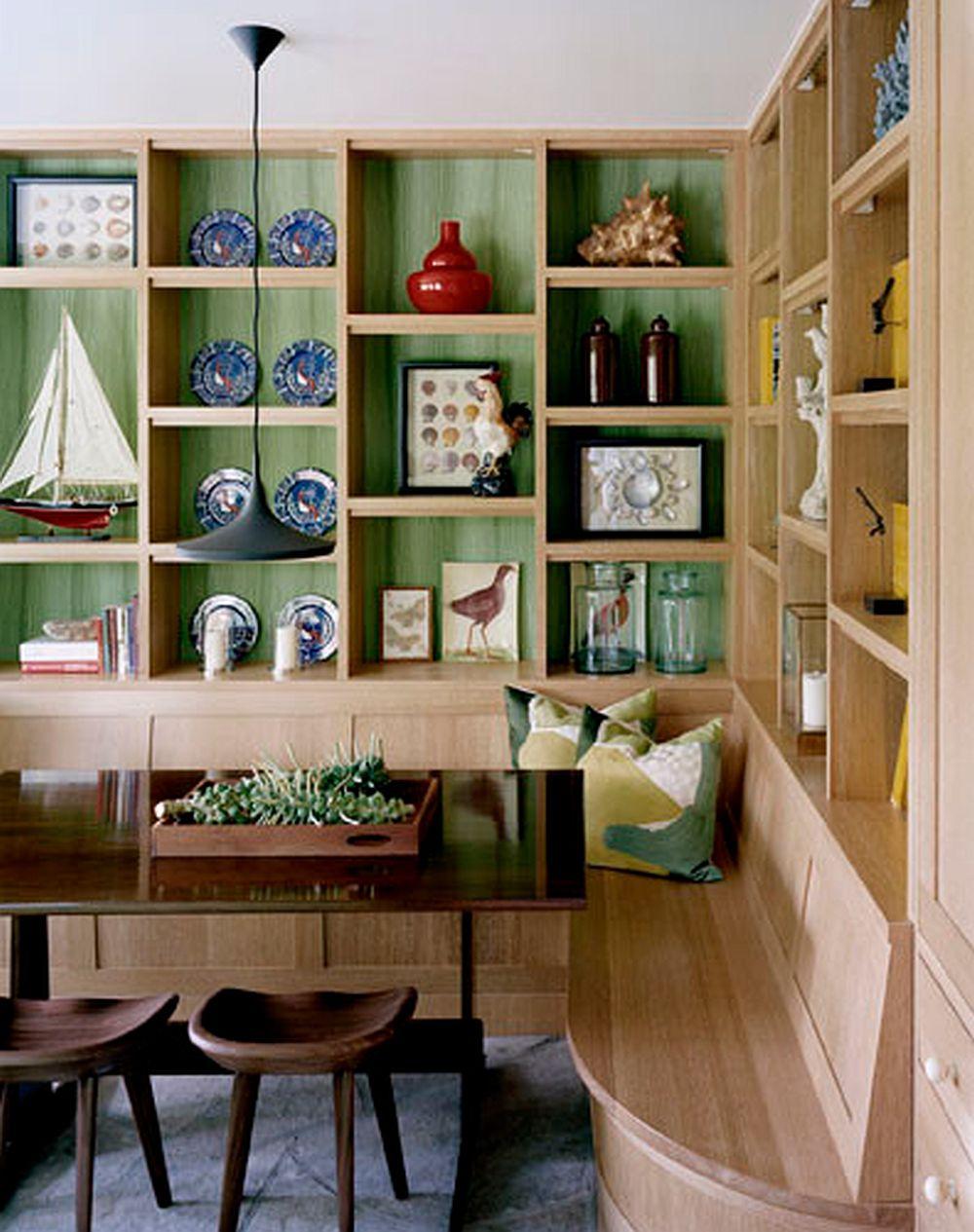 Putin verde nu strica niciodata intr-o casa unde preponderent e o nunata de lemn, foto Dufner Heighes Inc