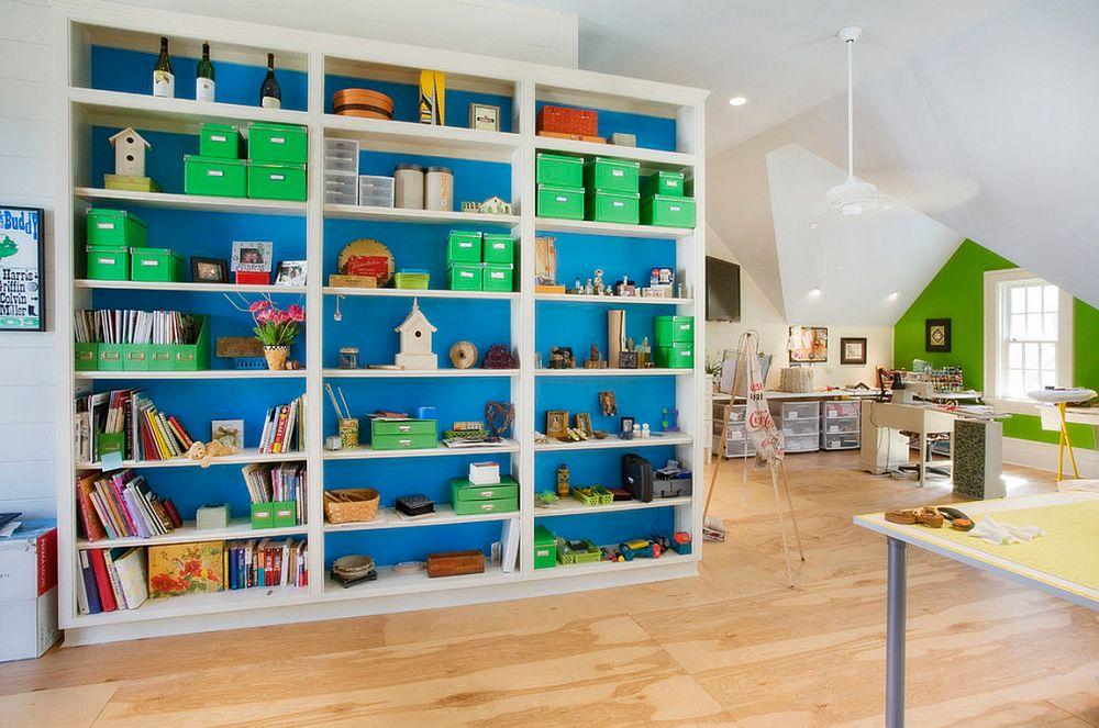 Mobila vopsita la interior devine o suprafata vesela si colorata, foto Stone Ridge Custom Homes