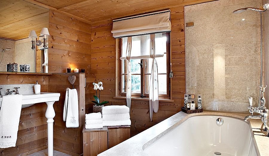 adelaparvu.com despre Klosters Ski Chalet, cabana din lemn luxoasa in Elvetia (6)