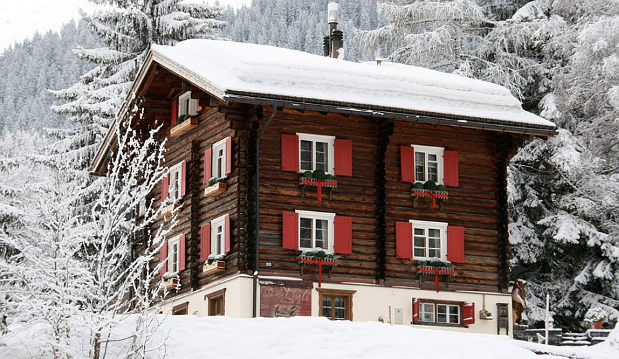 adelaparvu.com despre Klosters Ski Chalet, cabana din lemn luxoasa in Elvetia (9)