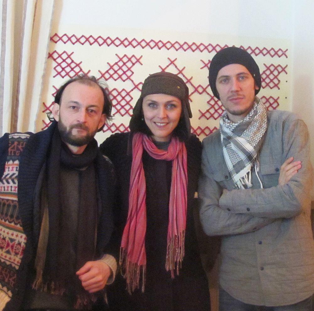 Alături de Horațiu Șerb și Mihai Grama (dreapta)