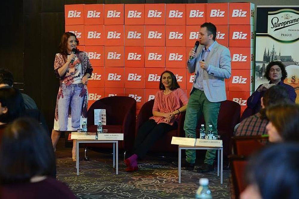 De la stanga la dreapta Marta Usurelu, Florin Florea, Cristian China Birta