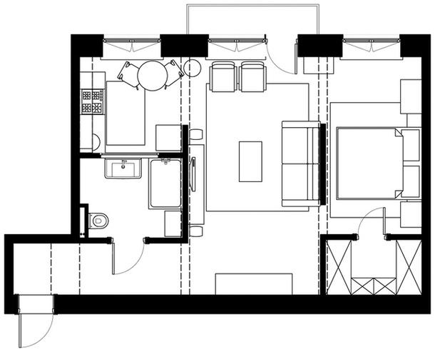 adelaparvu.com despre amenajare apartament doua camere, design interior SOG Interiors (11)