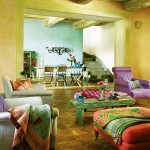 adelaparvu.com despre casa Tricia Guild, casa toscana cu camere colorate (2)