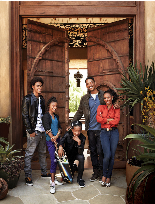 Will Smith si Jada Pinkett Smith alaturi de Wullow, Jaden si Trey