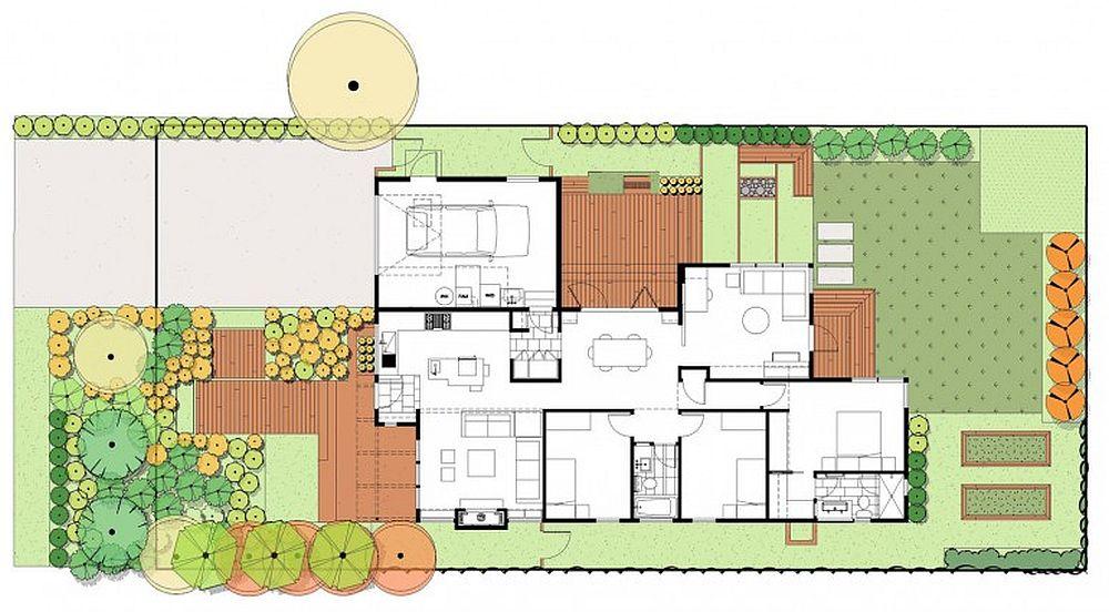 Planul arhitectei Ana  Williamson ce include si partea de gradina